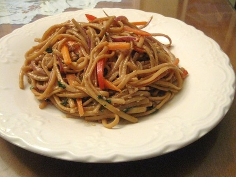 peanut sesame noodles, peanut sesame noodle recipe