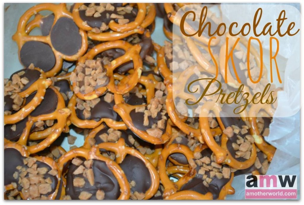Chocolate Skor Pretzels