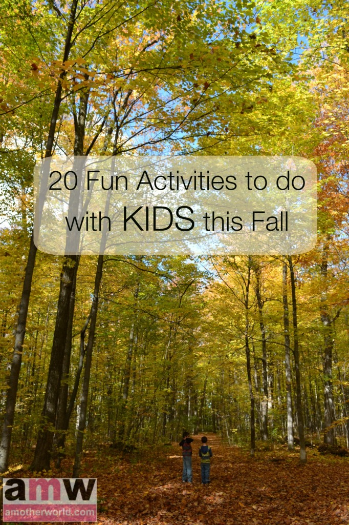 20 Fun Activities to do with kids this fall