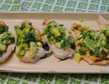 Chicken with Lime Cilantro Avocado Salsa