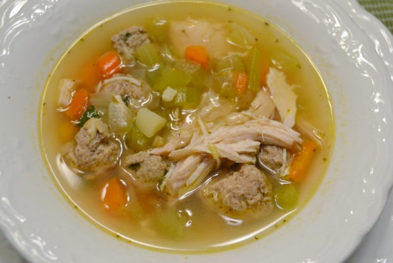 Italian Meatball and Chicken Soup