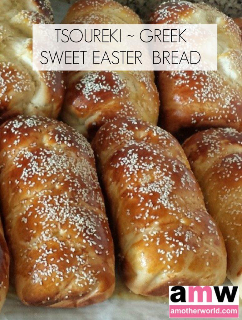 Tsoureki Greek Sweet Easter Bread   amotherworld   www.amotherworld.com