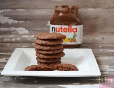 Easy Nutella Cookies recipe on amotherworld