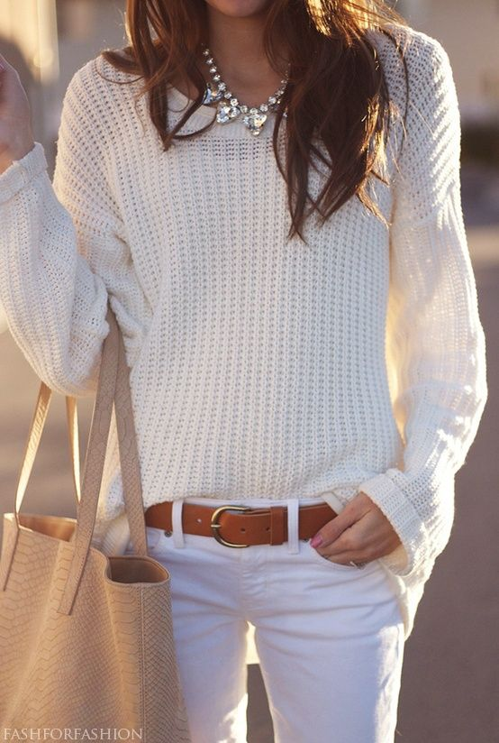 5 Ways to Wear White This Fall