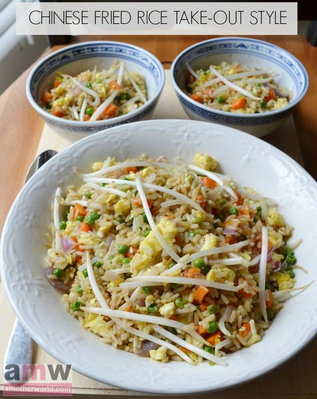 Chinese Fried Rice Recipe Take Out Style on amotherworld