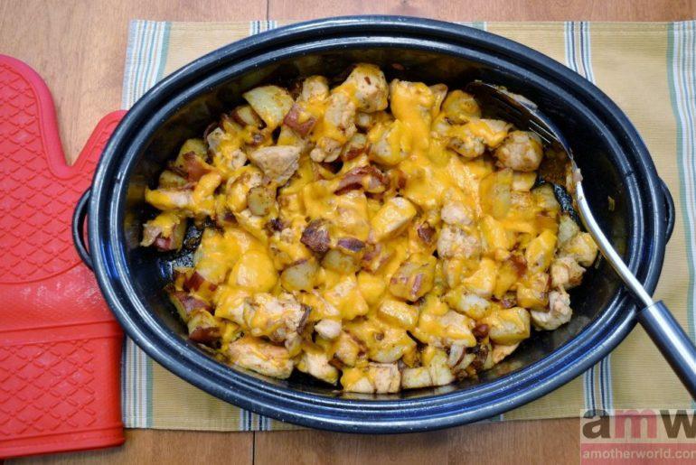 Cheesy Sriracha Chicken Bacon Potato Bake
