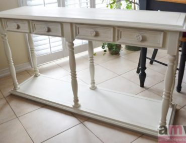 Annie Sloan Chalk Paint Table Painted Old White