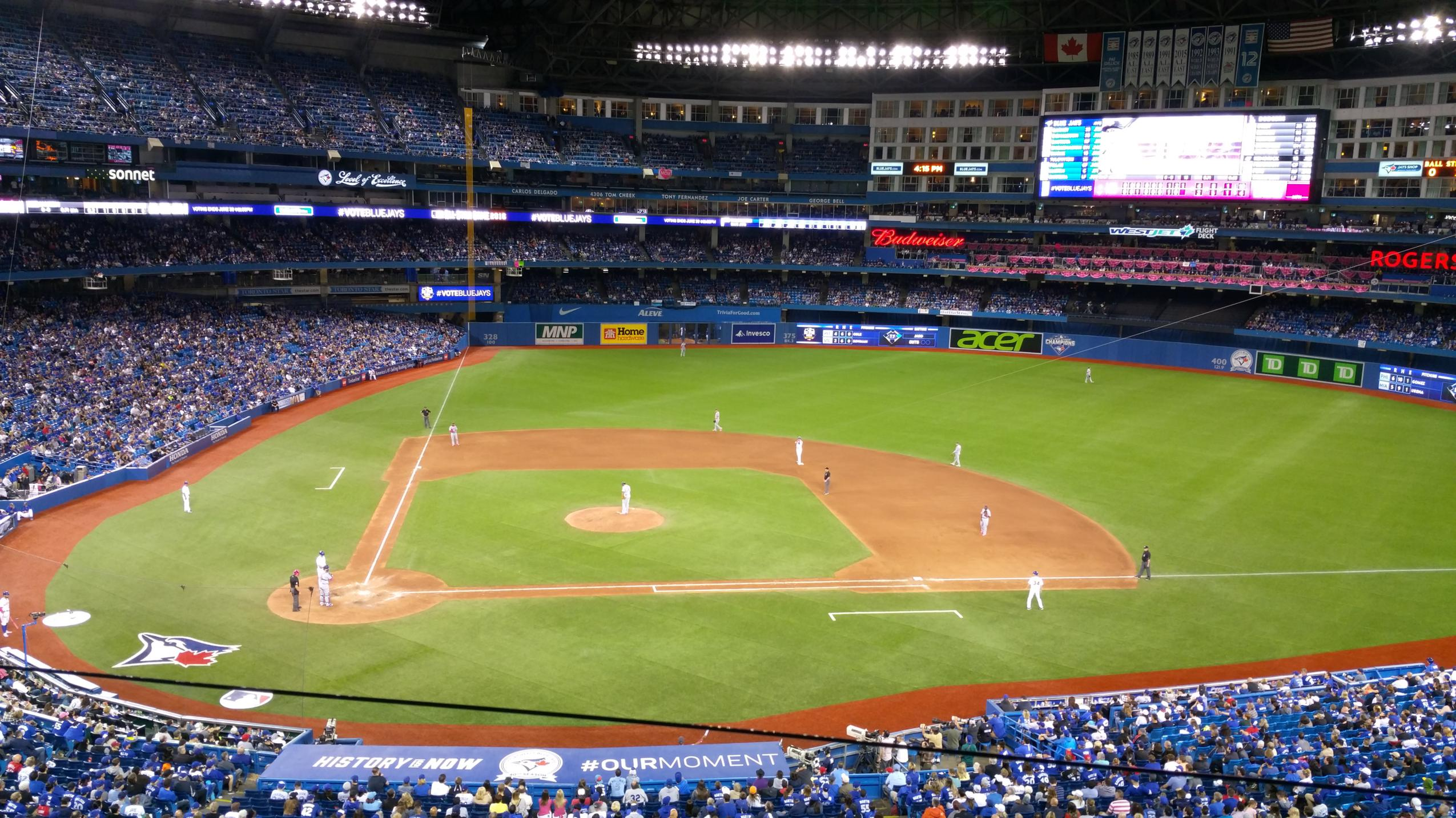 Mother's Day at the Toronto Blue Jays with Rogers the Field