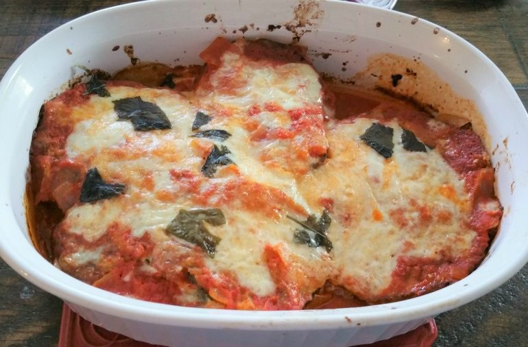 Gluten Free Eggplant Parmesan | amotherworld | amotherworld.com
