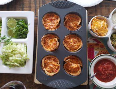 Chicken Enchilada Tortilla Bowls | amotherworld.com