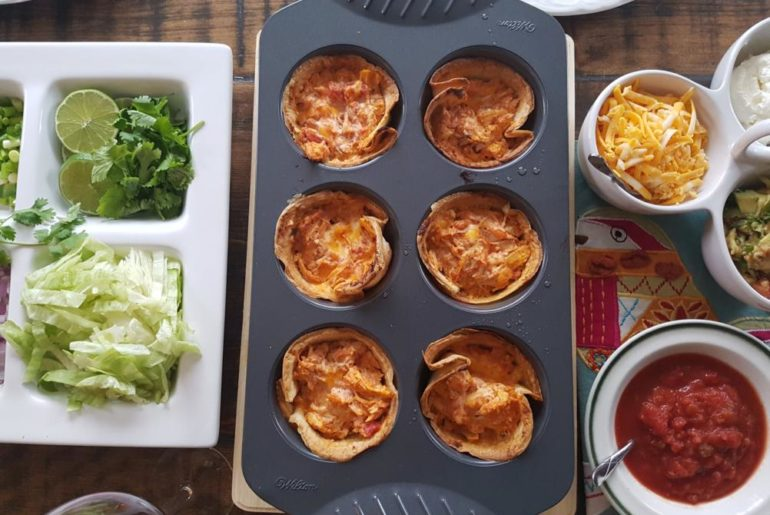 Chicken Enchilada Tortilla Bowls | amotherworld.com