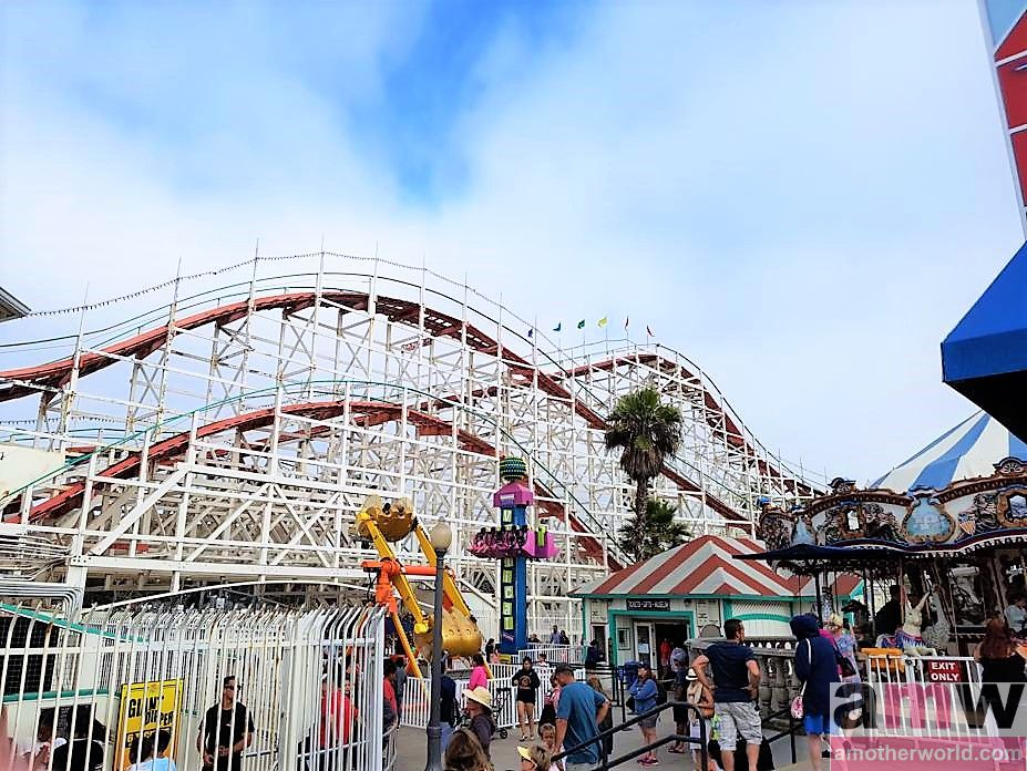 Top Vacation Spot: Fun Family Vibe in San Diego - Belmont Park Giant Dipper roller coaster