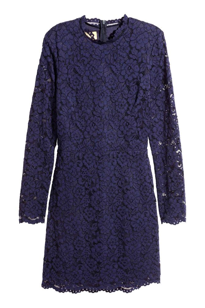Fall Fashion 2017 Purple Lace Dress (Copy)