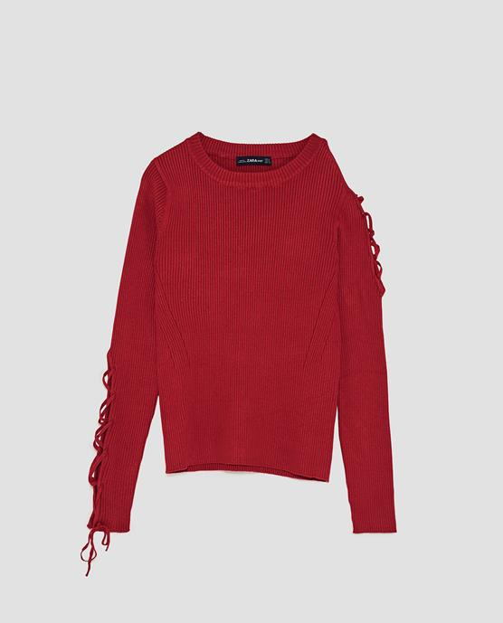 Fall Fashion 2017 Red Sweater