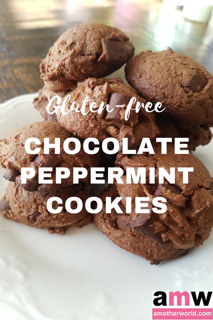 Gluten-Free Soft Chocolate Peppermint Cookies | amotherworld.com