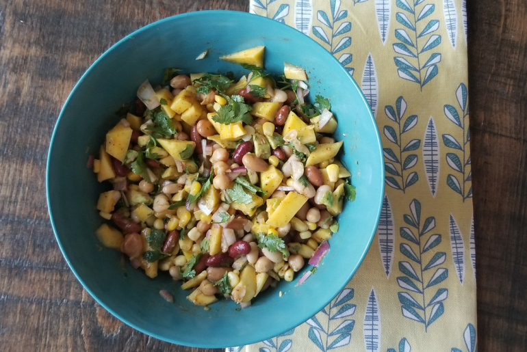 Bean and Mango Salad Recipe | amotherworld.com