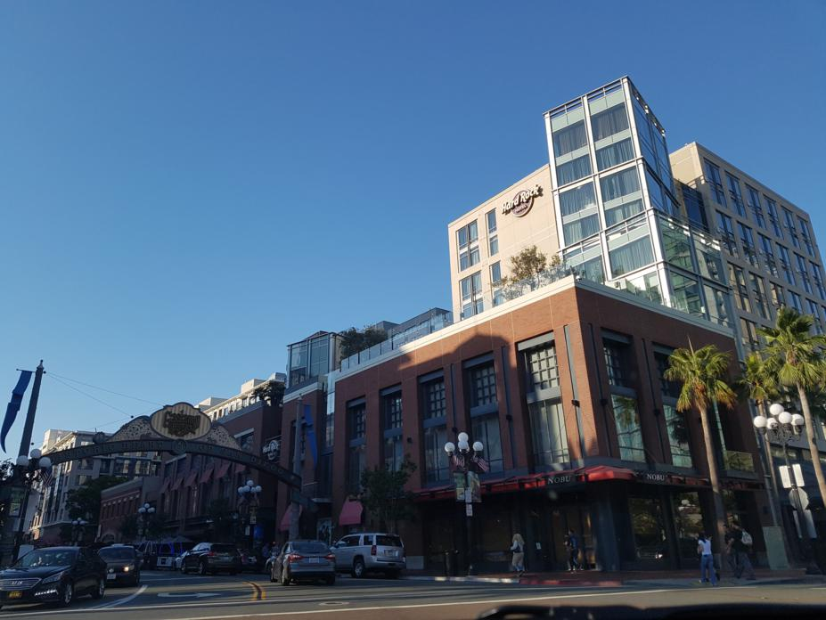 Gaslamp district in San Diego