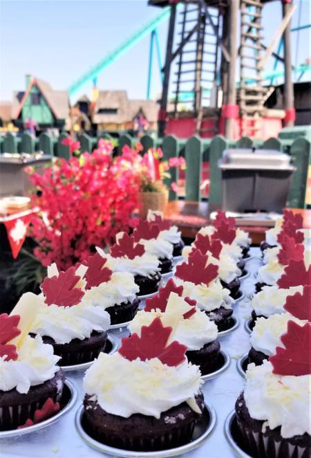 Canada Day Cupcakes Canada's Wonderland