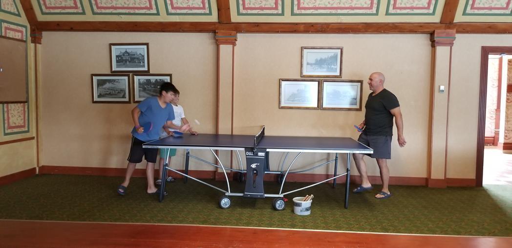 Ping Pong match at Fern Resort