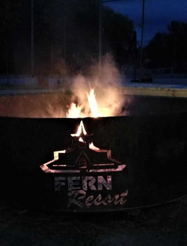 Fern Resort Ontario campfire