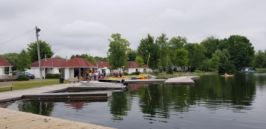 Fern Resort Ontario lake dockside