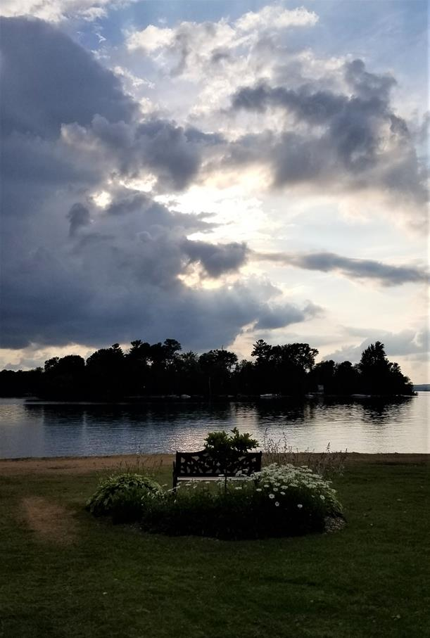 Fern Resort Ontario lake view at dusk