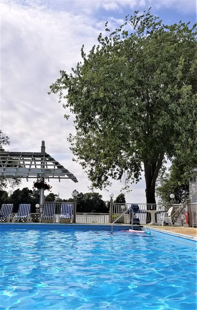 Fern Resort pool lake view