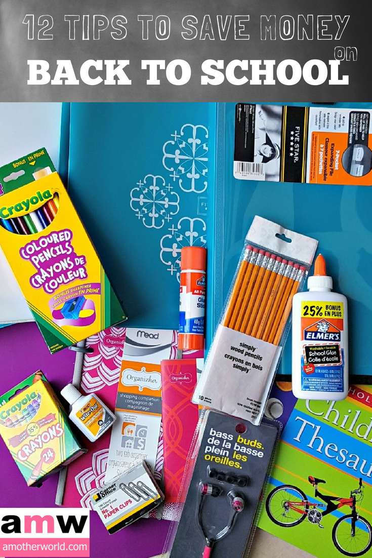 12 Tips to Save Money on Back to School Shopping | amotherworld.com