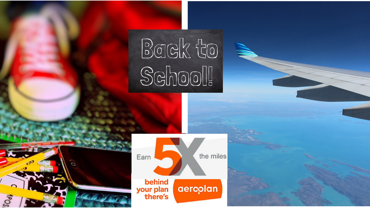 Shop Back-to-School and Earn Aeroplan Miles