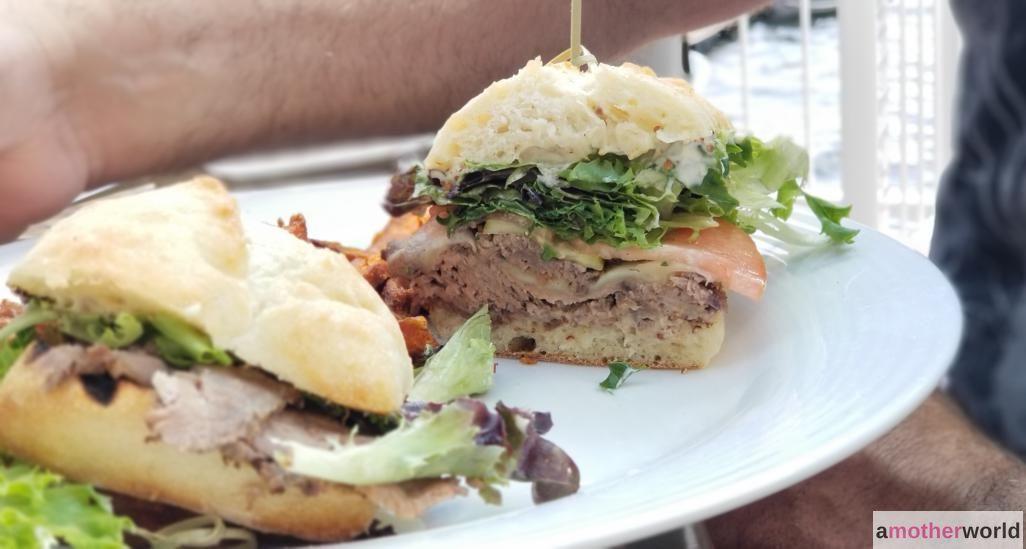 Brisket Sandwich at The Boathouse Viamede Resort