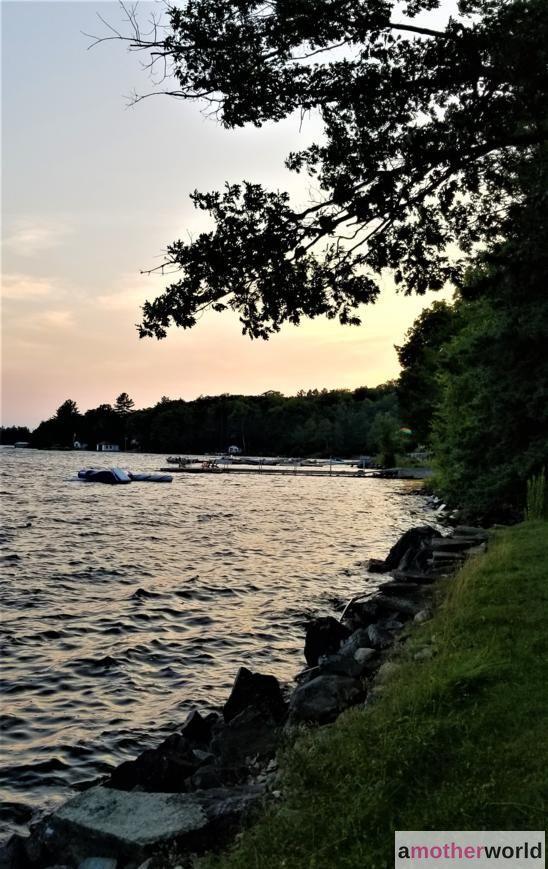 Sunset over Stoney Lake at Viamede Resort