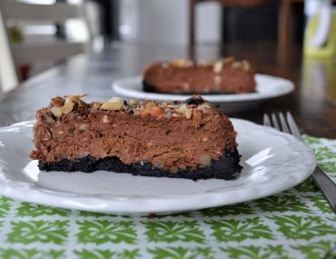 Chocolate Caramel Pecan Cheesecake | amotherworld