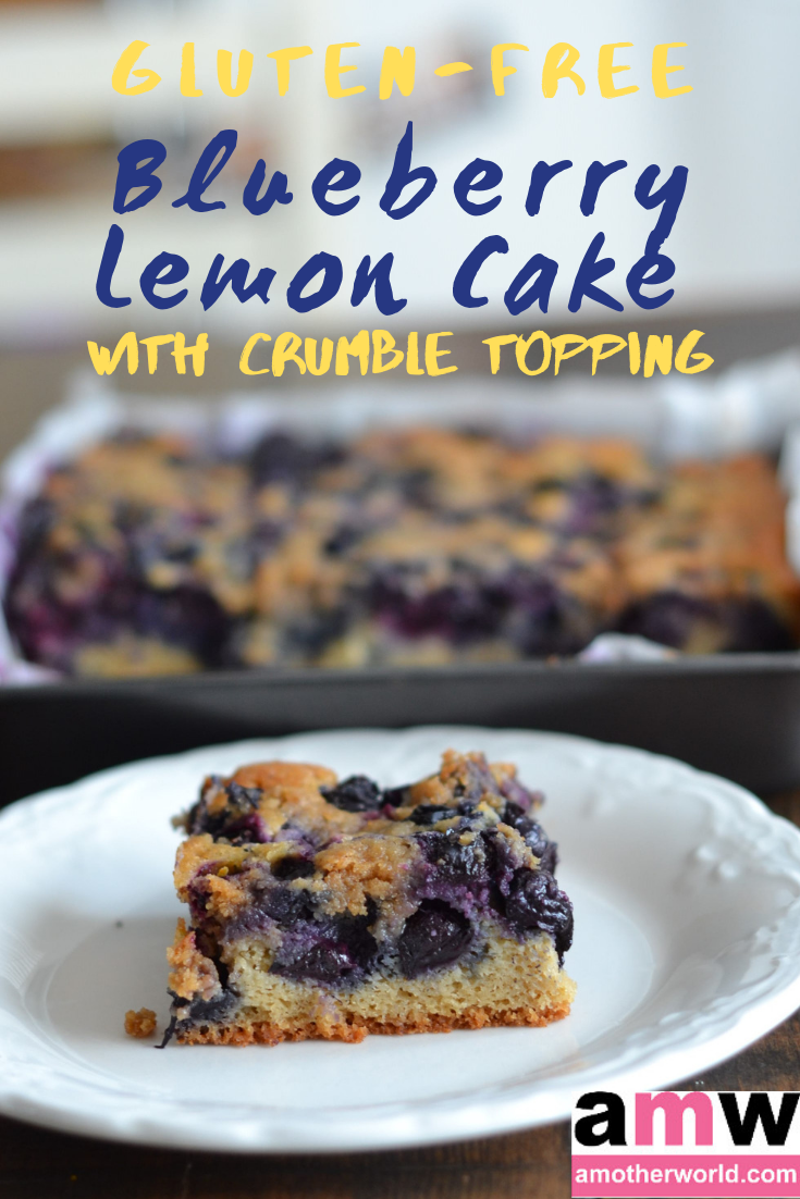 Gluten-Free Blueberry Lemon Cake With Crumble Topping | amotherworld.com