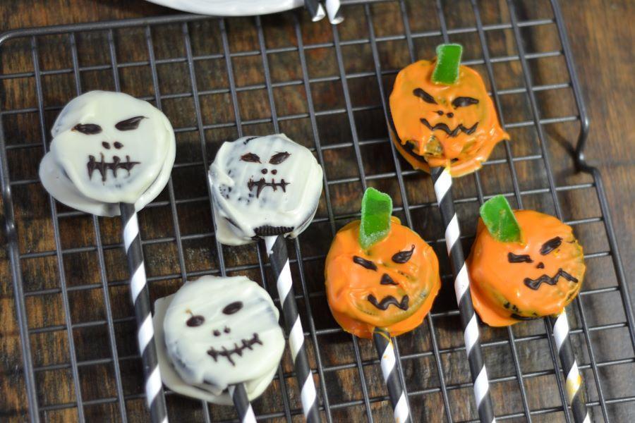 Halloween Oreo Pops Jack Skellington Jack O'Lantern Cookies