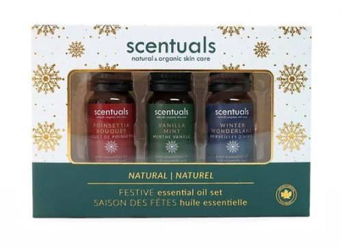 Holiday Gift Guide for Self-Care Love - Scentuals Holiday Essential Oils - amotherworld.com