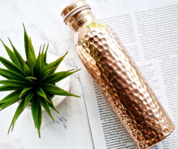 Summer Essentials Copper Water Bottle Copper H2O