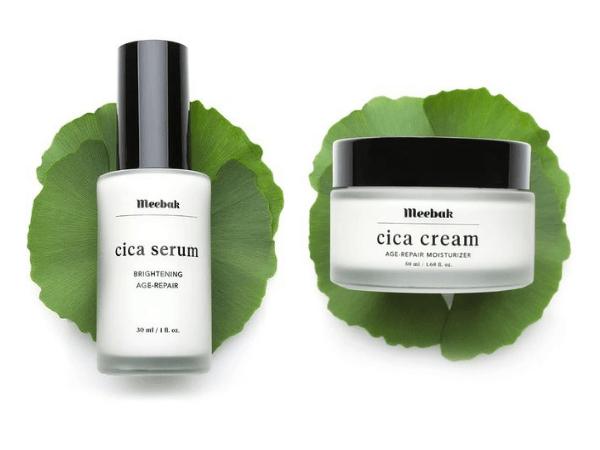 Holiday Gift Guide Meebak Cica Serum and Cream