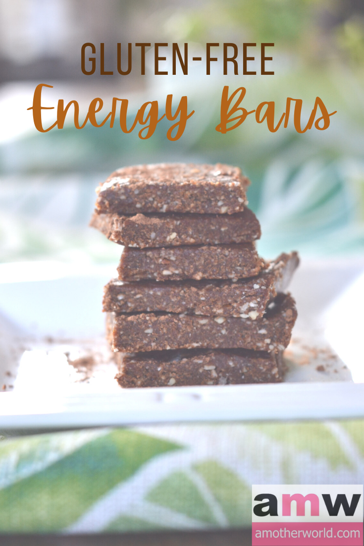 Squares of almond and date energy bars