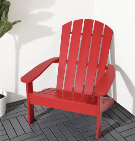 red Muskoka chair