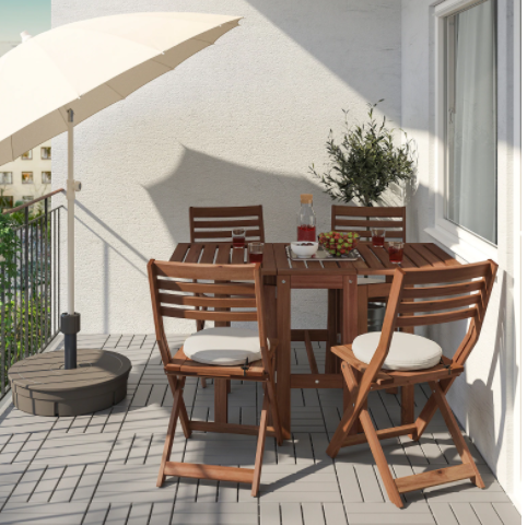 outdoor dining set for four people