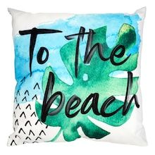 to the beach pillow